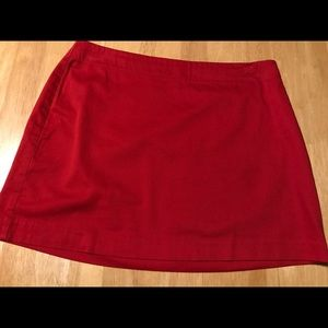 Express Stretch Red Mini Skirt Size 5/6